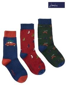 Joules Striking Christmas Socks Three Pack