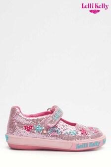 Lelli Kelly Tiara Silver Mary Jane Shoes
