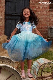 Monsoon Children Blue Ivana Ombre Sequin Dress