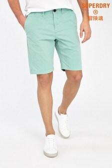 Superdry Chino-Shorts, mintgrün