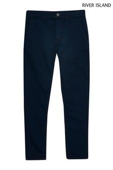 Pantalon habillé River Island bleu marine pour ado garçon
