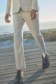 Pantalon de costume en lin mélangé (12 mois - 16 ans)