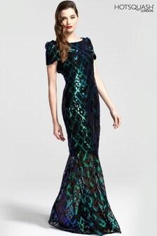 HotSquash Cowl Back Maxi Sequin Dress