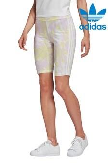 מכנסי רכיבה קצרים בצביעת קשירה מסדרת Originals של adidas