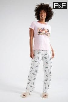 F&F Pink Friends Pyjamas Pack