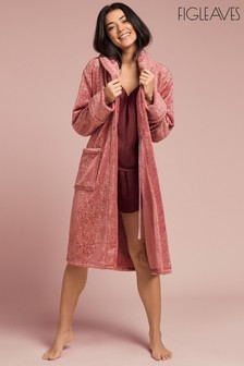 Figleaves Cosy Rose Gold Scattered Foil Robe