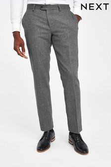 Nova Fides Wool Blend Herringbone Suit: Trousers
