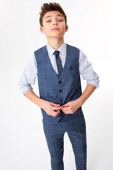 Жилет в крупную клетку, рубашка и галстук (комплект) (12 мес. - 16 лет)