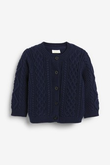 Cable Knit Cardigan (0mths-3yrs)