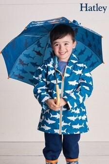 Сине-белая куртка с акулами Hatley