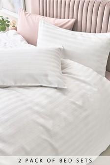Bettbezug und Kissenbezug aus Baumwolle, Fadendichte: 2