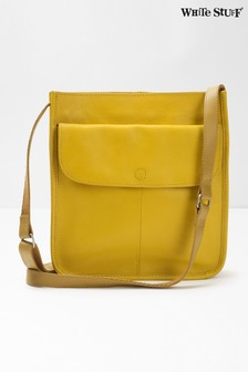 White Stuff Yellow Issy Pocket Cross Body Bag