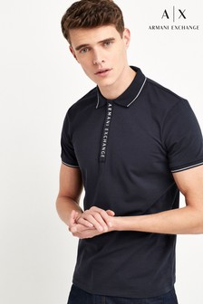 Tricou polo Armani Exchange bleumarin