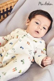 Pijama cu imprimeu Boden multicoloră