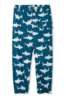 Hatley Blue Great White Sharks Colour Changing Splash Pants