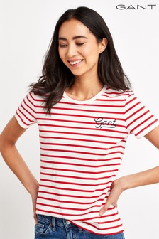 T-shirt à rayures style marinière GANT