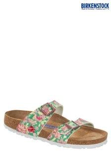 Zelené kvetované sandále Birkenstock® Sydney