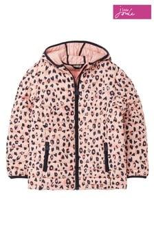 Joules Pink Kinnaird Print Packaway Padded Jacket