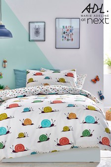 Marie Adeline at Next Multi Shelby Snail Duvet Cover and Pillowcase Set