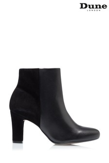 Dune London Ohara Black Heel Side Zip Ankle Boots