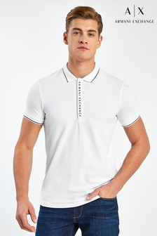 Armani Exchange Polohemd, Weiß