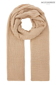 Accessorize Gold All Over Metallic Scarf