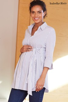 Chemise de maternité Isabella Oliver Gloria blanche