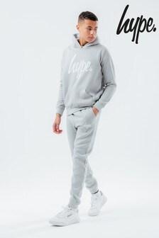 Chándal con pantalones y sudadera con capucha en color malva de Hype.