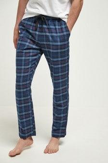 Пижамные текстильные брюки в клетку