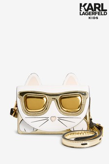 Karl Lagerfeld Kinder Tasche mit Katzendesign, Weiß