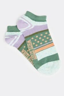 White Stuff Neppy Stripe Trainer Socks