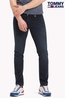 Tommy Jeans貼身款 Simon Cobble 黑色牛仔褲