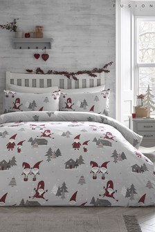 Fusion Christmas Gonks Duvet Cover and Pillowcase Set