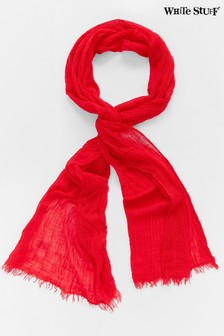 White Stuff Red Recycled Skinny Dreaming Away Scarf
