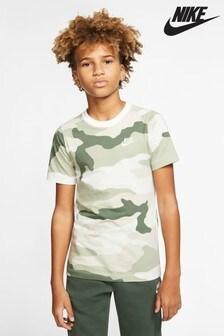Tričko s maskáčovou potlačou Nike