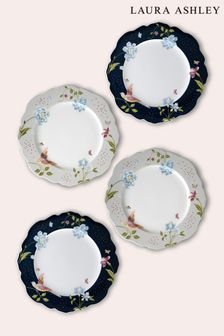 Set of 4 Laura Ashley Cream Heritage Collectables Plates