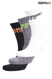 Superdry Cool Max Crew Socks Three Pack