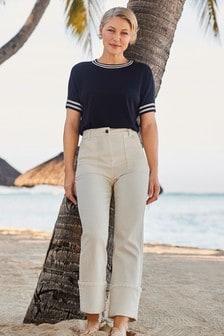 Прямые джинсы с отворотами Emma Willis