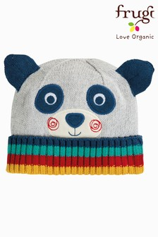 Frugi Organic Knitted Panda Hat With Ears