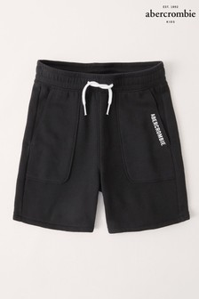 Abercrombie & Fitch Black Logo Shorts
