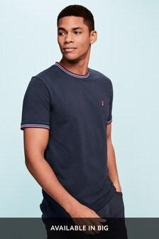 Fluro Tipped Neck T-Shirt
