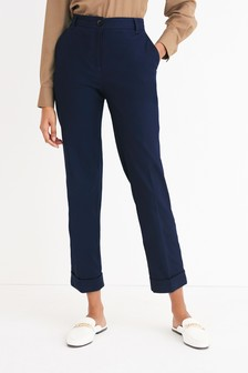 Cotton Twill Taper Trousers