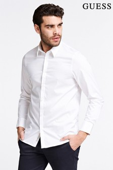 Guess White Long Sleeve Shirt