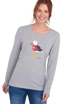 חולצתטי עם שרוולארוך לחג המולד דגם LangstoneמסדרתCoastal שלBarbour®