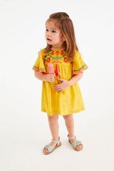 Kaftan-Kleid aus Bio-Baumwolle mit Stickerei (3Monate bis 7Jahre)