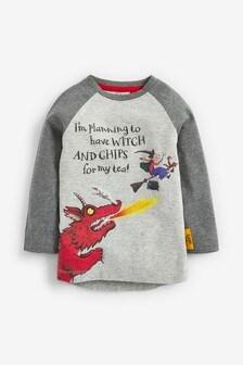 Camiseta de manga larga con dragón de «¡Cómo mola tu escoba!» (3 meses-8 años)