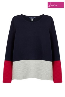Joules Blue Valencia Knitted Milano Stitch Jumper