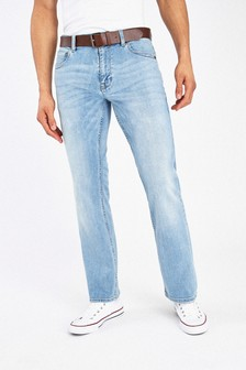 Belted stretchjeans
