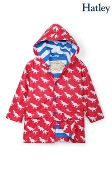 Czerwone płaszcz przeciwdeszczowy, zmieniający kolor Hatley T-Rex Silhouettes