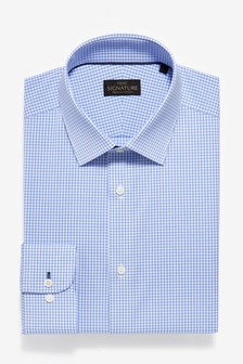 Non-Iron Egyptian Cotton Stretch Signature Shirt